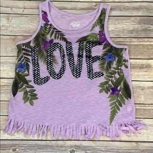 Justice Fringed Love Tank